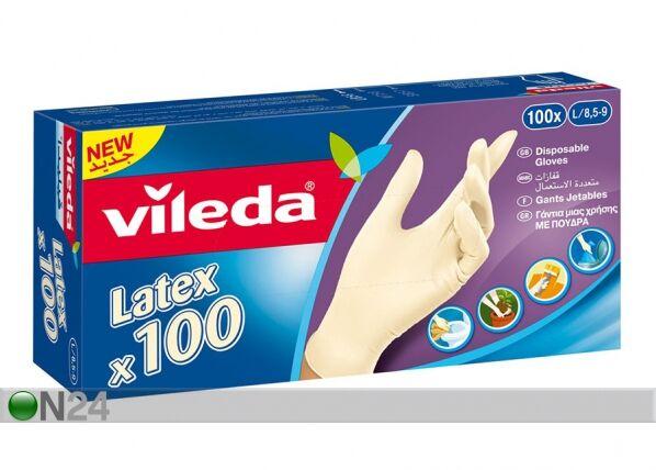 VILEDA Kertakäyttökäyttökäsine VILEDA MULTI LATEX 100 kpl M