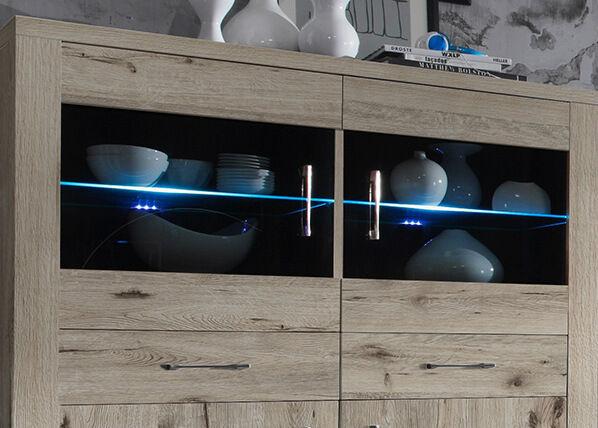 Mäusbacher LED kiinnike lasihyllyyn 2 kpl