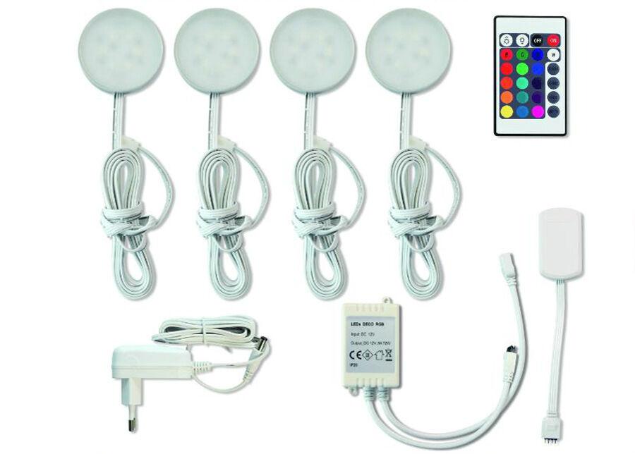 MÜLLER LICHT Kohdevalaisimet Bacca LED+ kaukosäädin 4 kpl