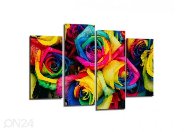 Image of Neliosainen seinätaulu ROSES 80x130 cm