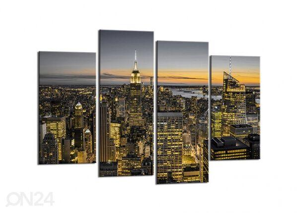 Image of Neliosainen seinätaulu NEW YORK SKYLINE 80x130 cm