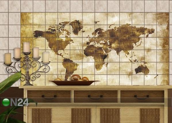 Tarrat seinälaatoille MAP OF THE WORLD 60x120 cm