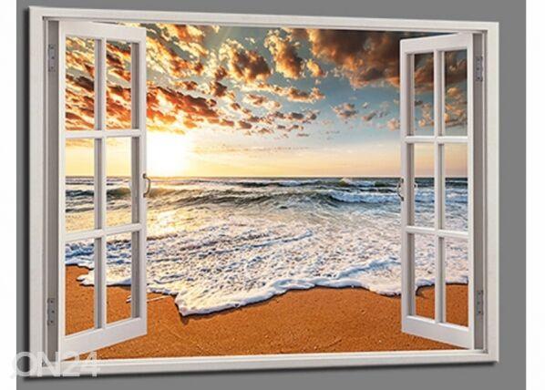 Image of Seinätaulu BEACH VIEW WINDOW, 120x80 cm