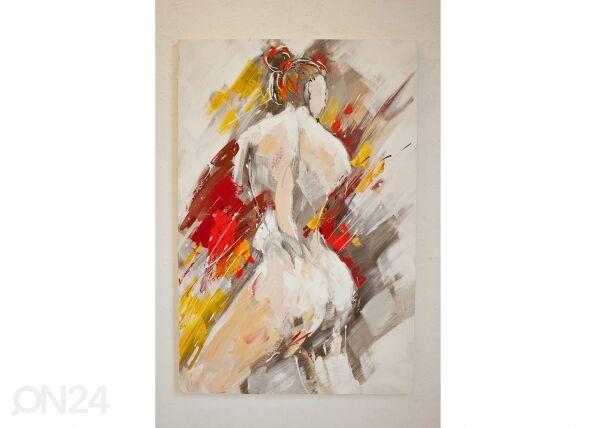 Image of Öljymaalaus Naisen muotokuva 120x80 cm