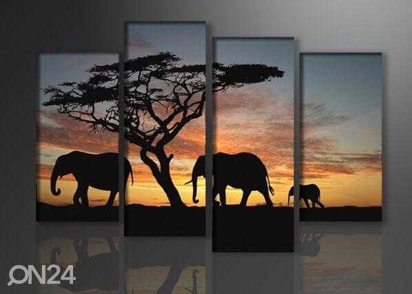 Image of Neliosainen seinätaulu AFRIKKA 130X80 cm