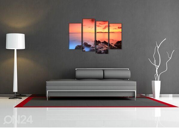 Image of Neliosainen seinätaulu KIVET 130x80 cm