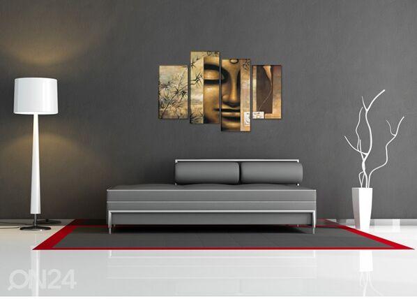 Image of Neliosainen seinätaulu BUDDHA 130x80 cm