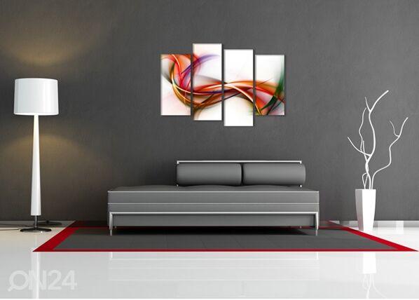 Image of Neliosainen seinätaulu FANTASIAN LENTO 130x80 cm