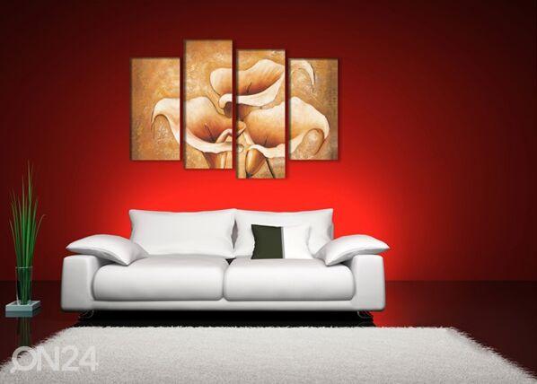 Image of Neliosainen seinätaulu KALLAT 130x80 cm