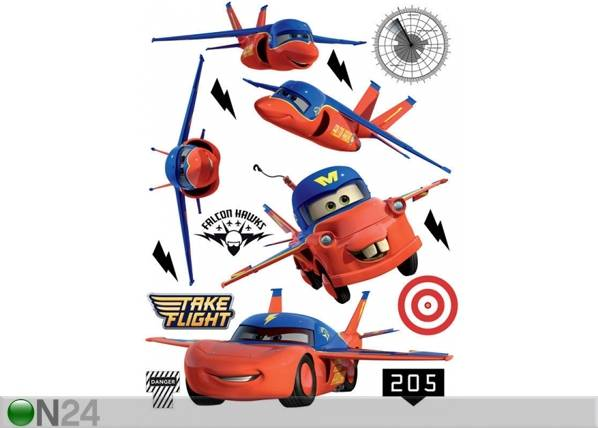 AG Design Seinätarra DISNEY CARS FLIES 65x85 cm