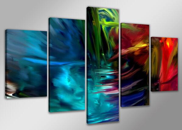 Visario Viisiosainen seinätaulu ABSTRACKT 200x100 cm