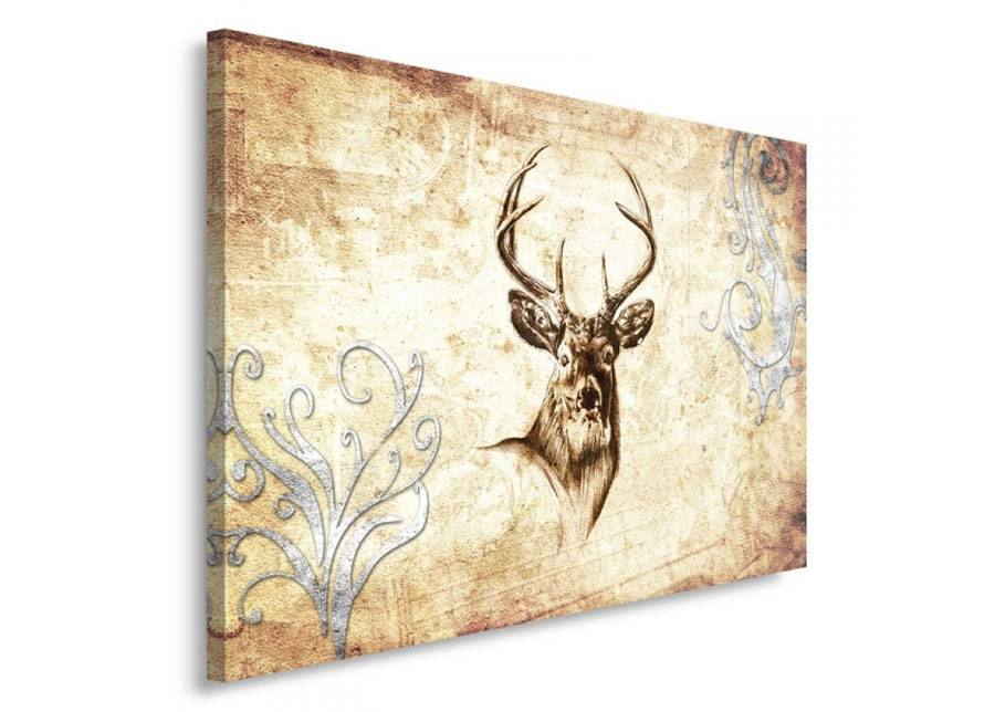 Image of Seinätaulu Deer's head 1 80x120 cm
