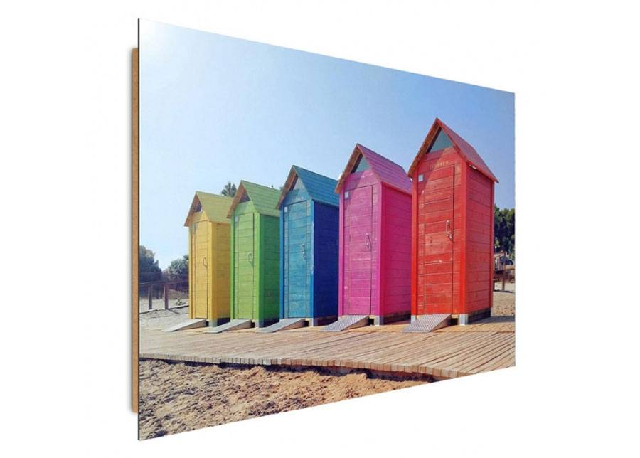 Image of Seinätaulu Colorful booths 80x120 cm