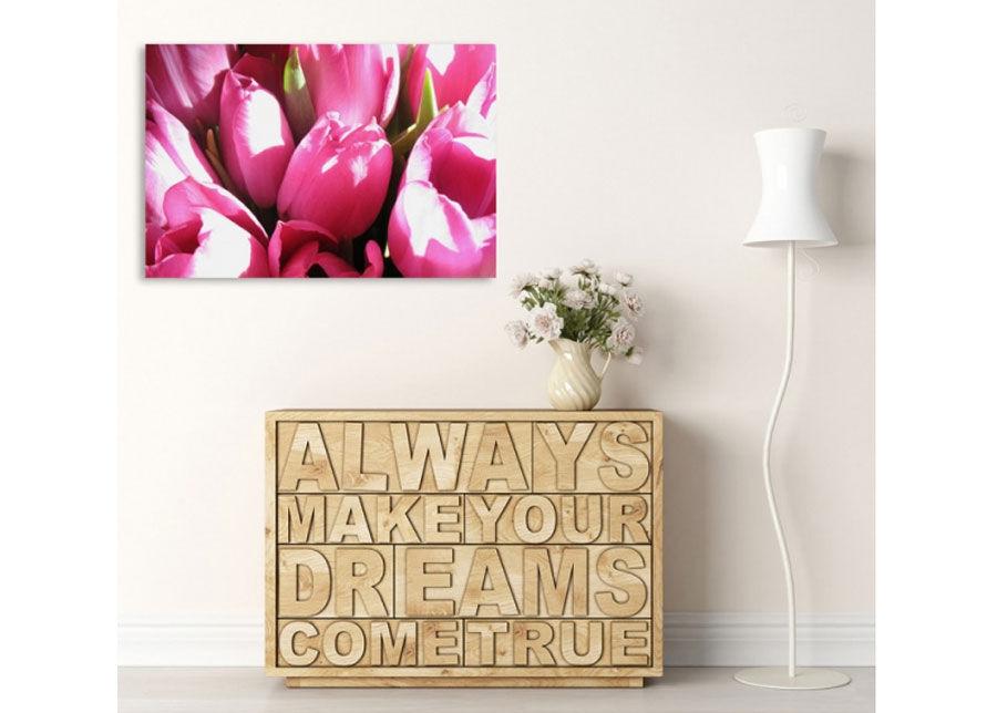 Seinätaulu Pink tulips 70x100 cm