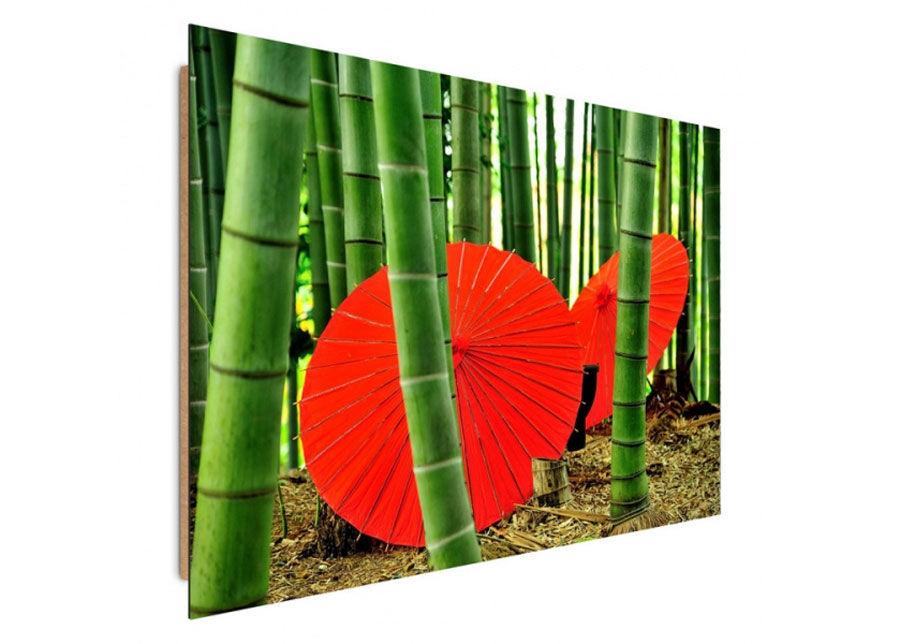 Seinätaulu Umbrellas in a bamboo grove 70x100 cm