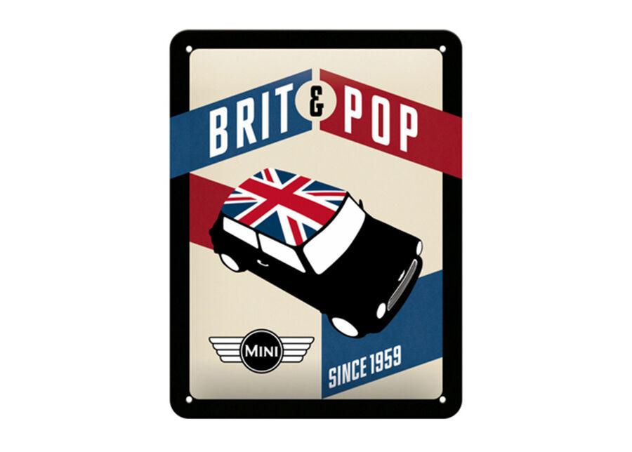 Image of ART Retro metallijuliste Mini Brit & Pop 15x20 cm