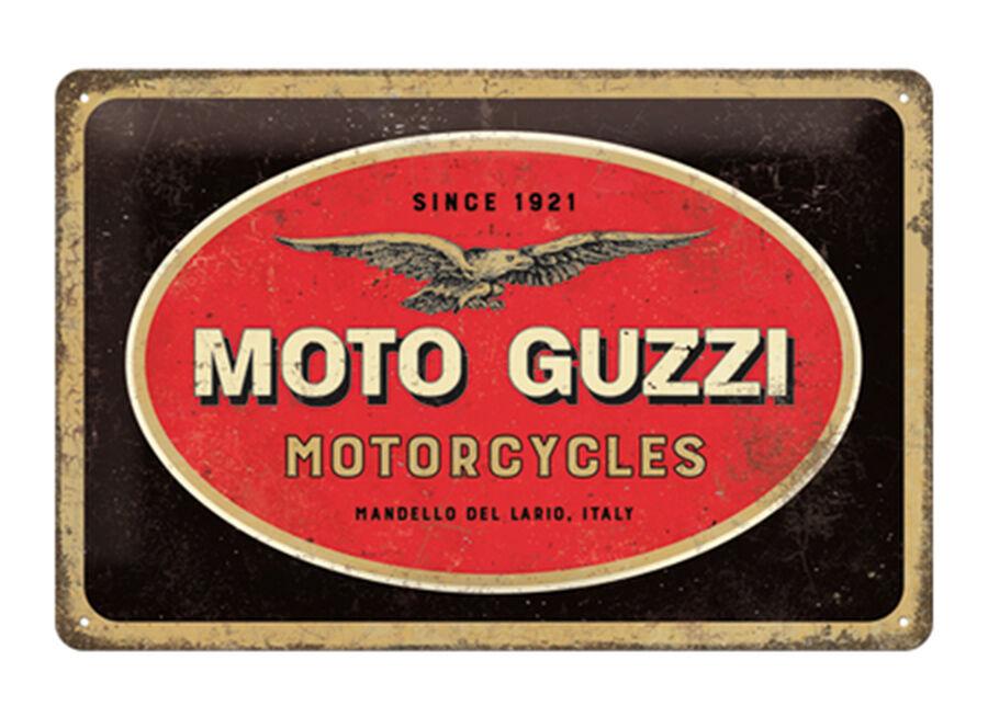 ART Retro metallijuliste Moto Guzzi logo 20x30 cm