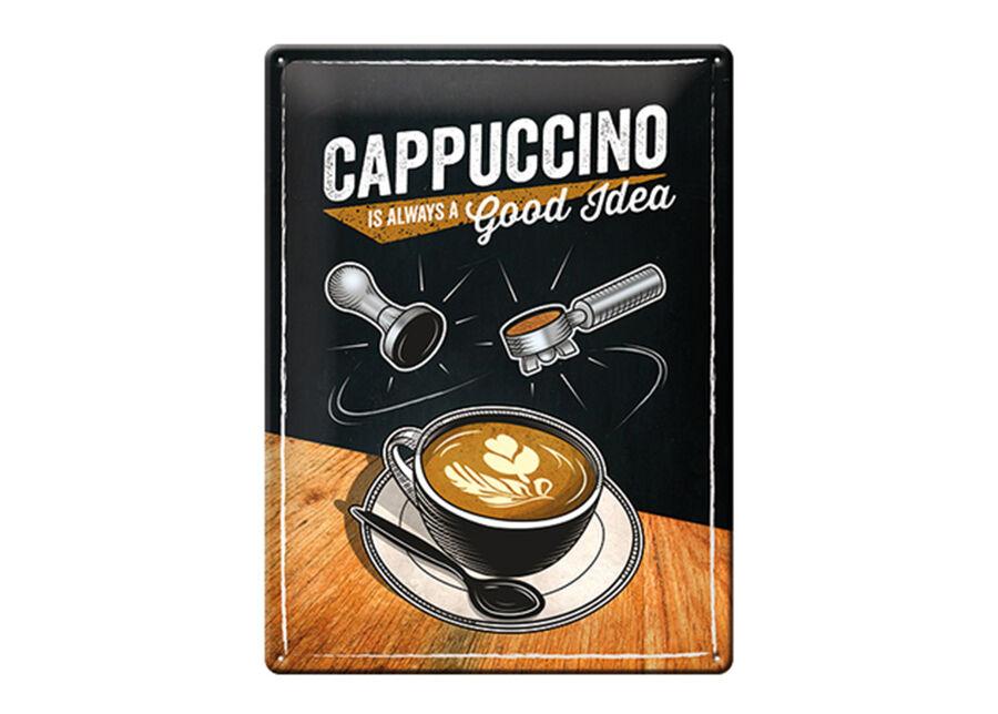Image of ART Retro metallijuliste Cappuccino is always a good idea 30x40 cm