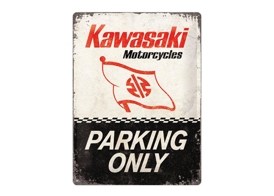 ART Retro metallijuliste Kawasaki Parking Only 30x40 cm