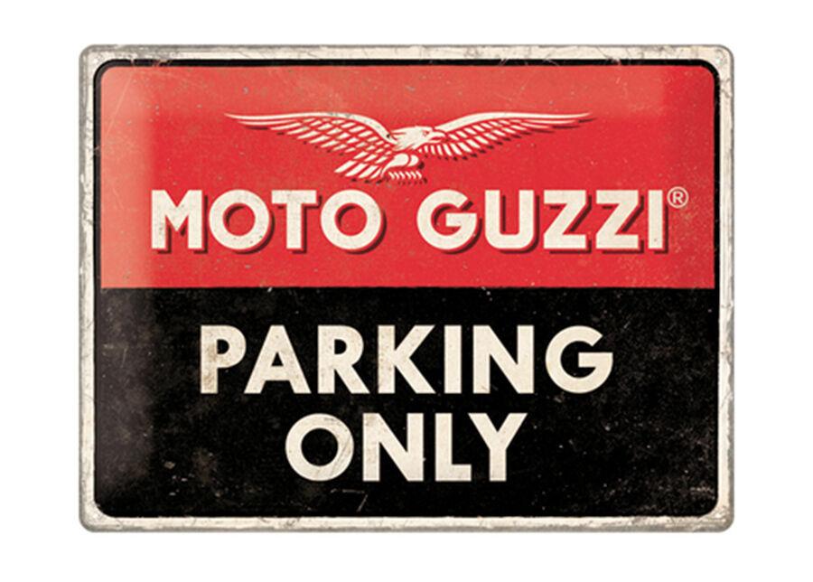 ART Retro metallijuliste Moto Guzzi Parking Only 30x40 cm