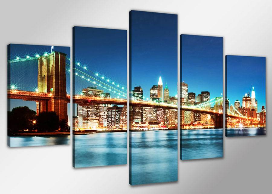 Visario Viisiosainen seinätaulu NEW YORK