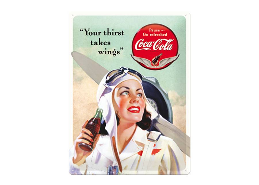ART Retro metallijuliste Coca-Cola Your Thirst Takes Wings 30x40 cm