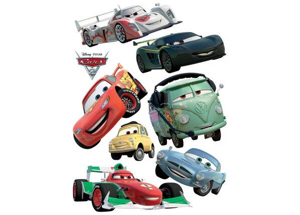 AG Design Seinätarra DISNEY CARS 2 MCQUEEN AND FRANCESCO BERNOULLI 65x85 cm