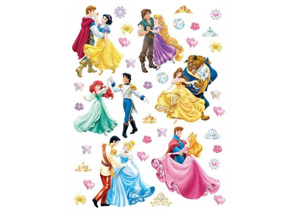 AG Design Seinätarra DISNEY PRINCESSES AND PRINCES 65x85 cm