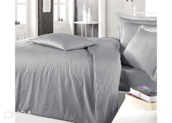 MIKA Satiini pussilakanasetti GREY 200x220 cm