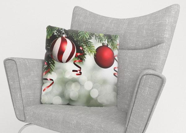 Image of Wellmira Koristetyynyliina RED CHRISTMAS TOYS 2 50x50 cm