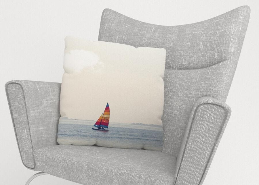 Image of Koristetyynyliina Boat near Venice 50x50 cm