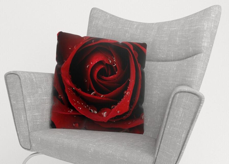 Image of Koristetyynyliina Red Rose 50x50 cm