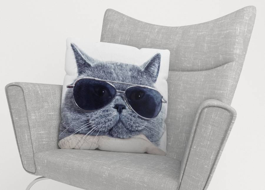 Image of Koristetyynyliina Stylish Cat 50x50 cm