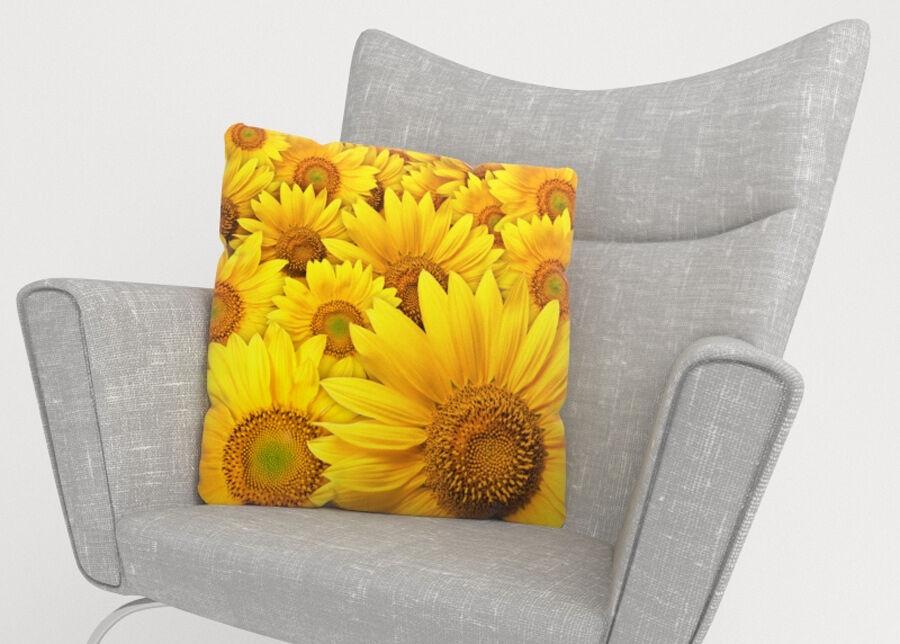Image of Koristetyynyliina Sunflowers 45x45 cm