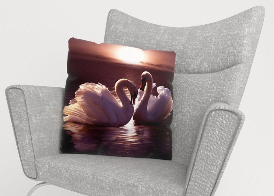 Image of Koristetyynyliina Swans 45x45 cm