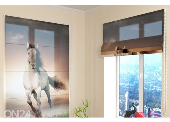 Wellmira Puolipimentävä laskosverho HORSE 100x120 cm