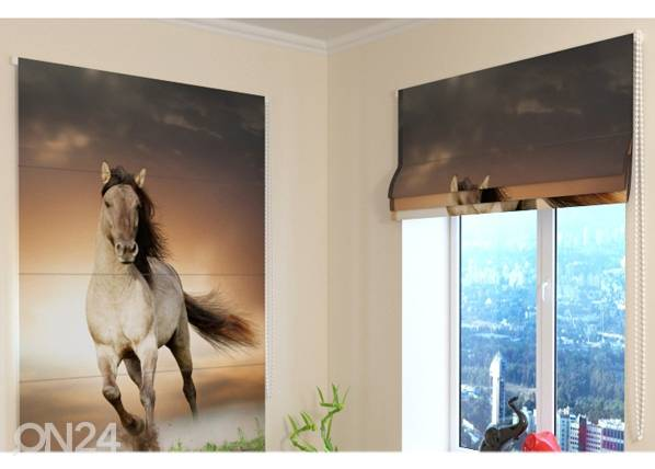 Wellmira Pimentävä laskosverho HORSE 120x140 cm