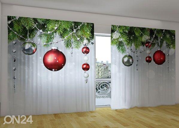 Wellmira Puolipimentävä verho CHRISTMAS DECORATIONS 360x230 cm