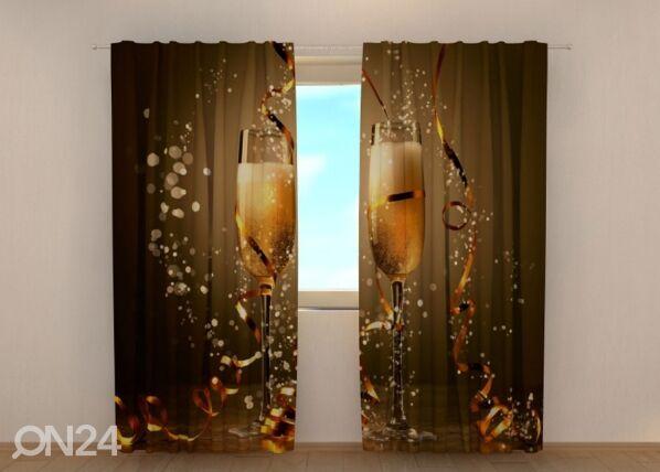 Image of Wellmira Pimennysverho Christmas champagne 240x220 cm