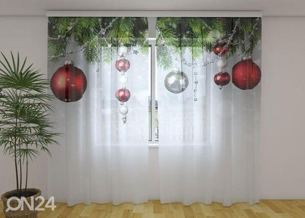 Image of Wellmira Läpinäkyvä verho Christmas Decorations 240x220 cm