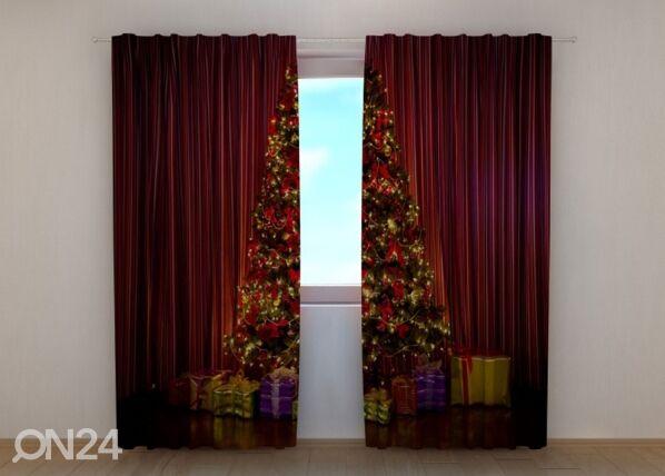 Wellmira Puolipimentävä verho Christmas Tree 240x220 cm