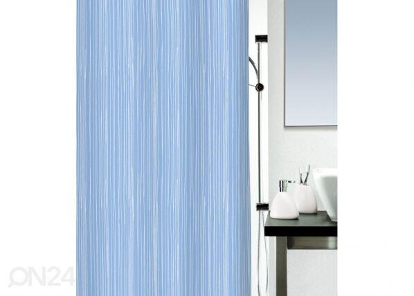 SPIRELLA Kankainen suihkuverho RAYA, sininen 180x200 cm