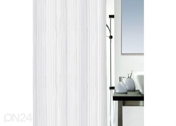 SPIRELLA Kankainen suihkuverho RAYA, valkoinen 180x200 cm