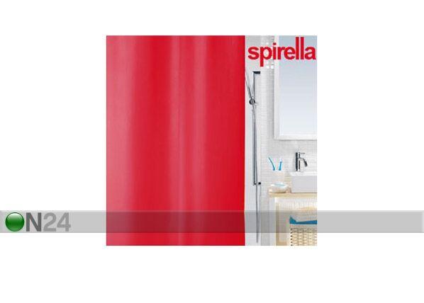 SPIRELLA Suihkuverho SPIRELLA PRIMO punainen tekstiili
