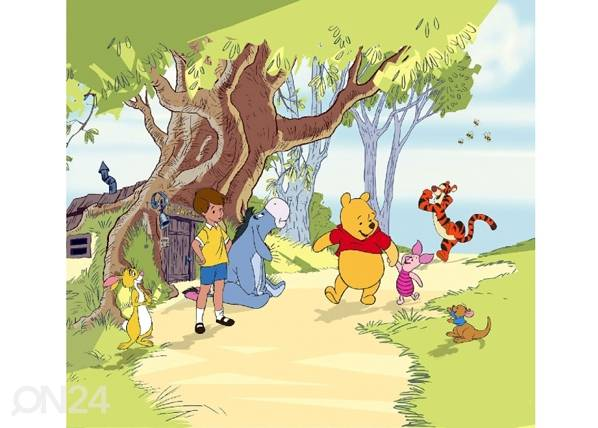 AG Design Fotoverho WINNIE THE POOH AND FRIENDS 180x160 cm