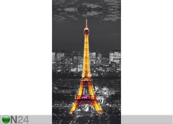AG Design Puolipimentävä fotoverho PARIS BY NIGHT 140x245 cm