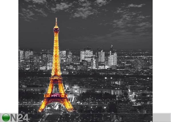 AG Design Pimentävä fotoverho PARIS BY NIGHT 280x245 cm