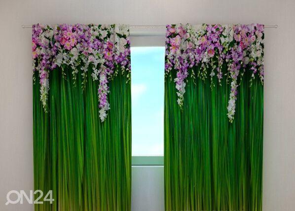 Wellmira Läpinäkyvä verho FLOWER LAMBREQUINS 240x220 cm