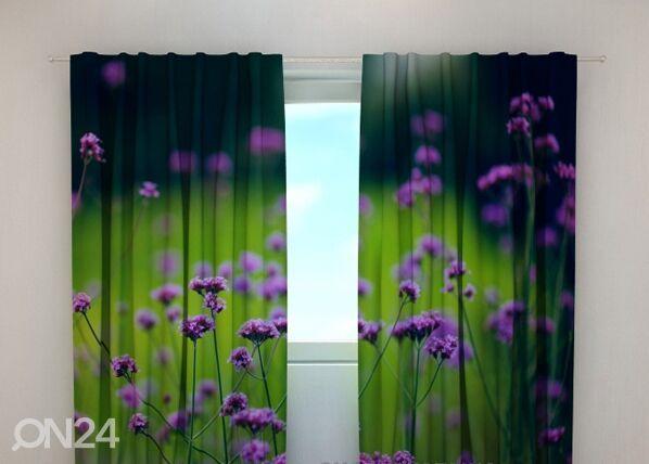 Wellmira Läpinäkyvä verho FLOWER 5, 240x220 cm