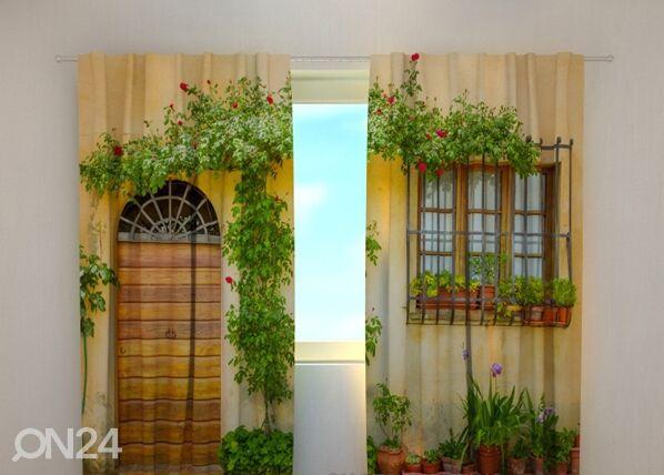 Wellmira Puolipimentävä verho FLOWERS BY THE DOOR 240x220 cm